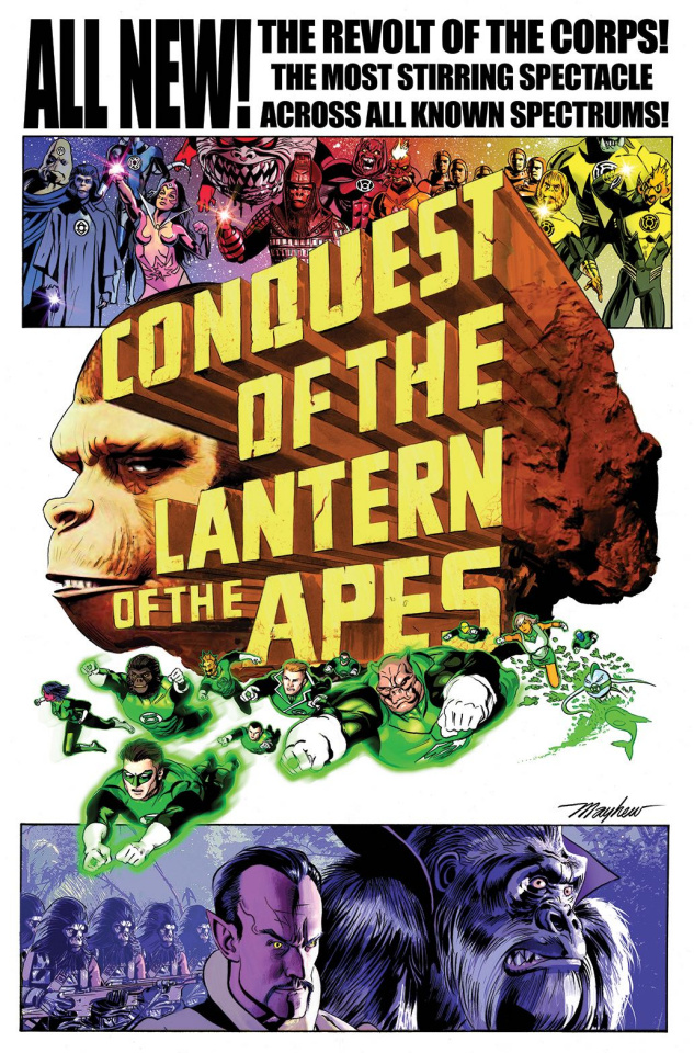 The Planet of the Apes / The Green Lantern #4 (10 Copy Mayhew Movie Cover)