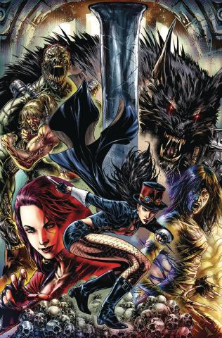 Van Helsing vs. The League of Monsters #4 (Whtie Cover)