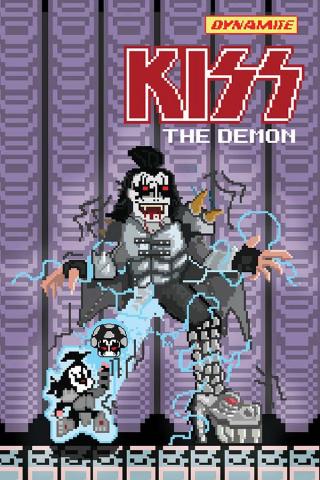 KISS: The Demon #2 (Adams 8-Bit Cover)