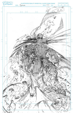 Spawn #314 (50 Copy Capullo Raw Pencils Cover)