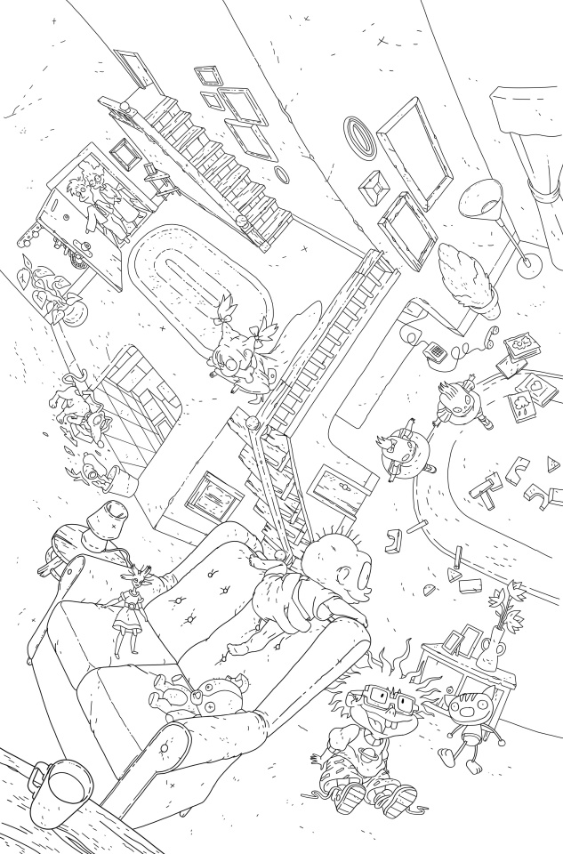 Rugrats #1 (Connecting Coloring Book Cover)