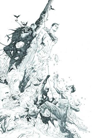 Batman / Superman #2 (Black & White Cover)