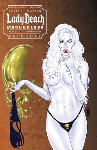 Lady Death Origins Annual #1 (New York Saturday Cover)