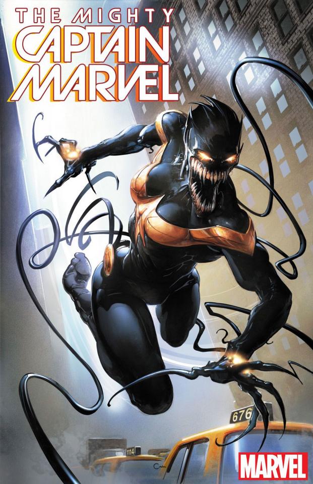 The Mighty Captain Marvel #3 (Crain Venomized Cover)