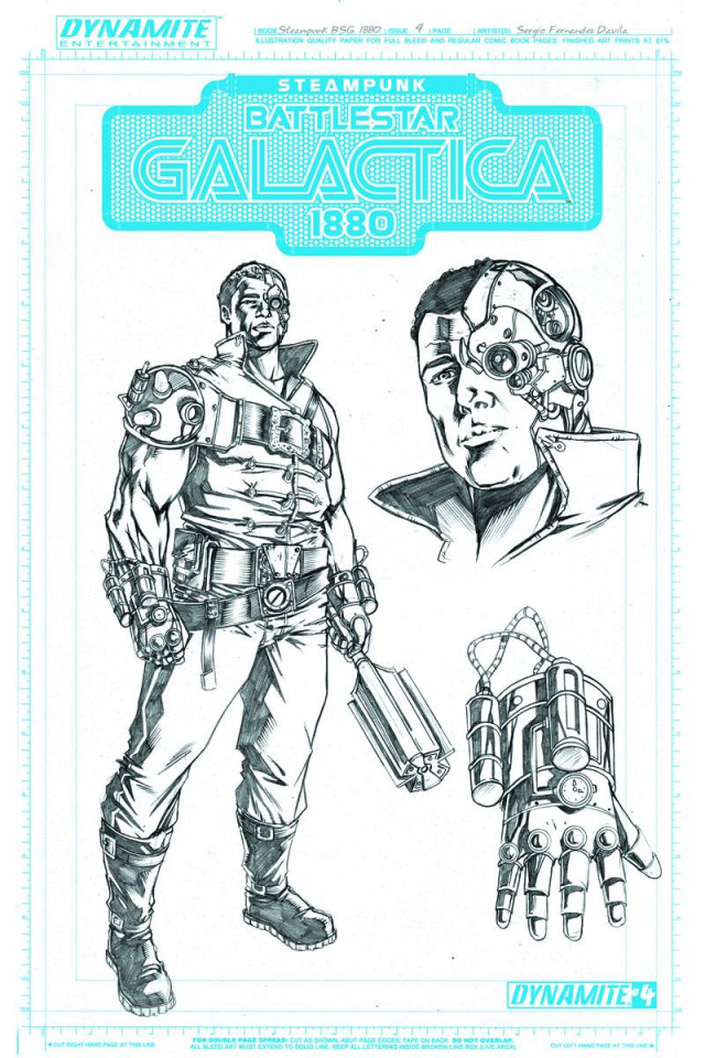 Steampunk Battlestar Galactica: 1880 #4 (10 Copy Concept Art Cover)