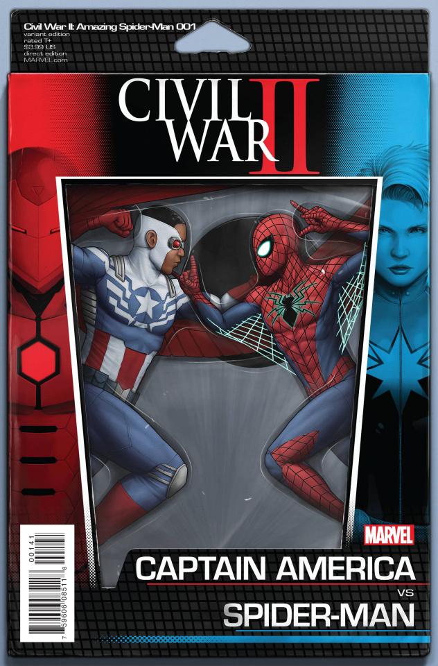 Civil War II: Amazing Spider-Man #1 (Action Figure Cover)