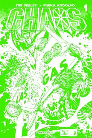 Chaos #1 (High End Adlard Chaotic Green Cover)