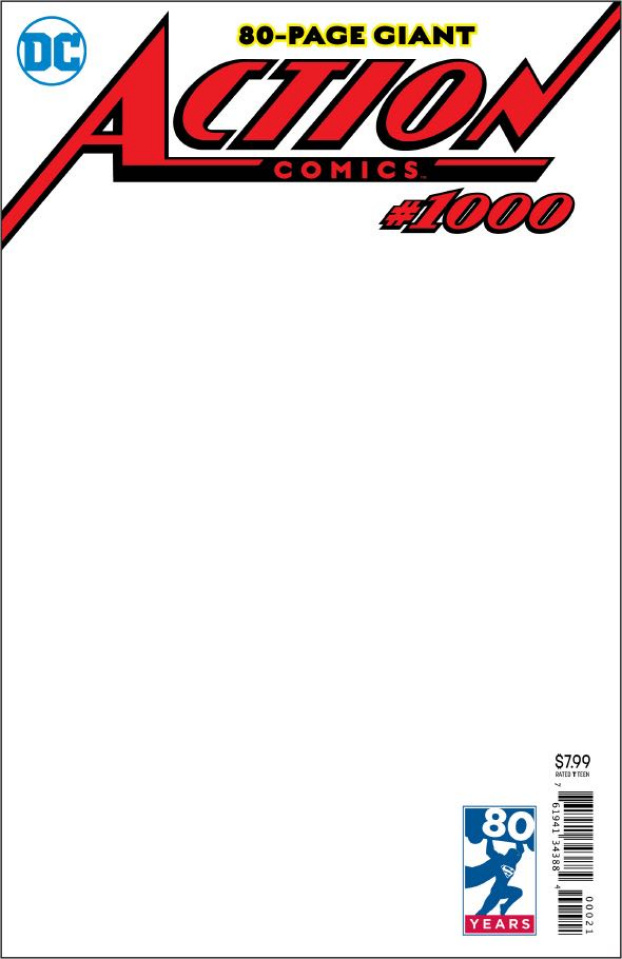 Action Comics #1000 (Blank Cover)