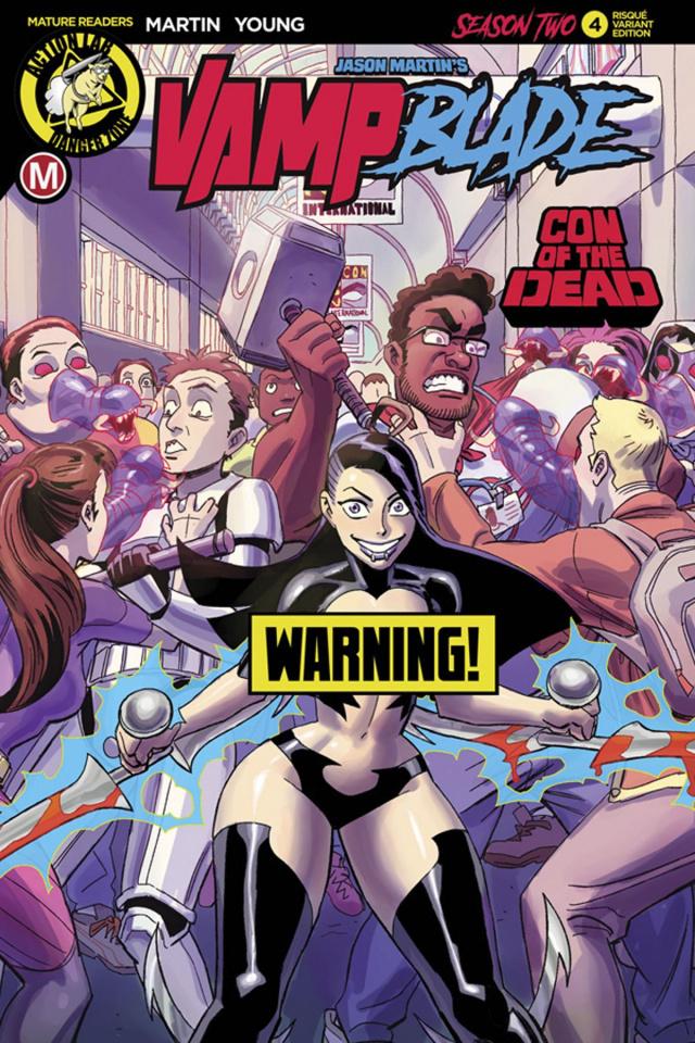 Vampblade, Season Two #4 (Winston Young Risque Cover)