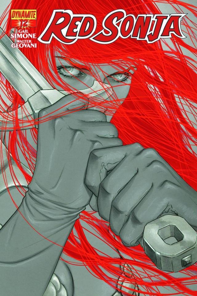 Red Sonja #12 (15 Copy Frison B&W Cover)