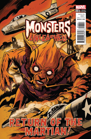 Monsters Unleashed! #3 (Francavilla '50s Movie Poster Cover)