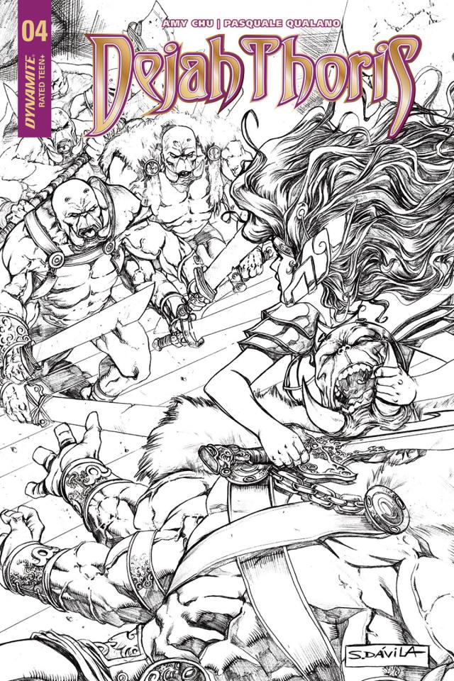 Dejah Thoris #4 (20 Copy Davila B&W Cover)