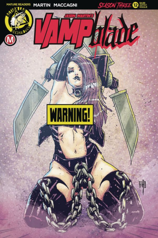 Vampblade, Season Three #12 (Brao Risque Cover)