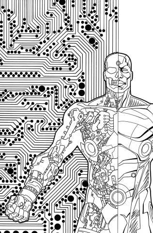 Cyborg #7 (Adult Coloring Book Cover)