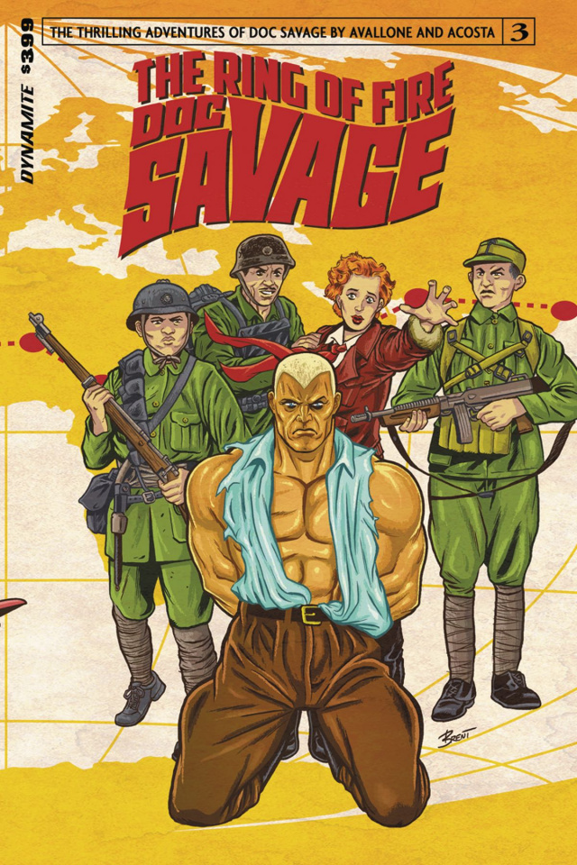 Doc Savage: The Ring of Fire #3 (Schoonover Cover)