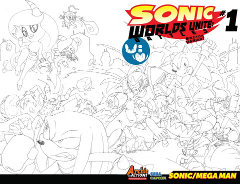 Sonic Worlds Unite: Battles #1 (Sketch Cover)