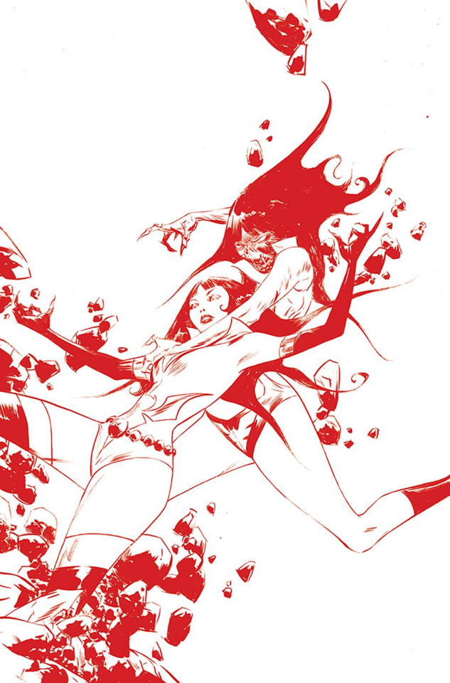 Vampirella: The Dark Powers #3 (Lee Crimson Red Line Art Virgin Cover)