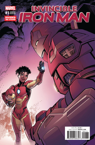 Invincible Iron Man #1 (Divided We Stand Cover)
