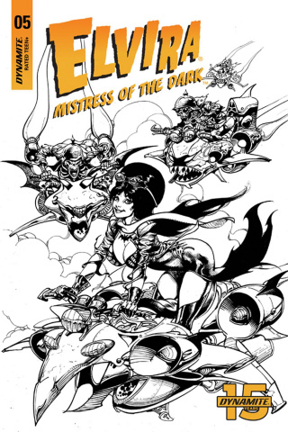 Elvira: Mistress of the Dark #5 (15 Copy Castro B&W Cover)