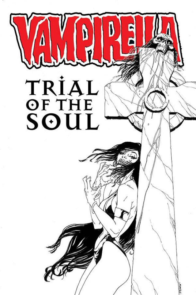 Vampirella: Trial of the Soul (Sears B&W Cover)
