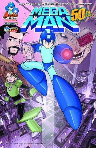 Mega Man #50 (Patrick Thomas Parnell Cover)