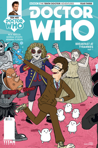 Doctor Who: New Adventures with the Tenth Doctor, Year Three #1 (Ellerby Cover)
