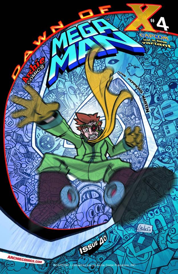 Mega Man #40 (Lost in Time Cover)