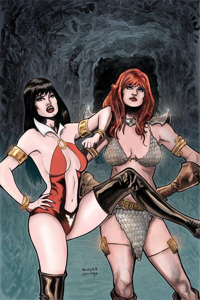 Vampirella / Red Sonja #12 (Acosta Virgin Cover)