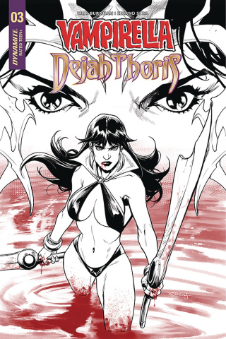 Vampirella / Dejah Thoris #3 (25 Copy Segovia B&W Cover)