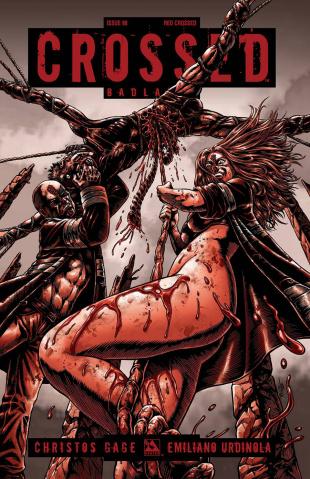 Crossed: Badlands #98 (Red Crossed Cover)