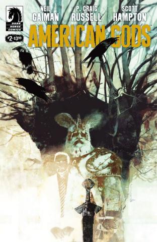 American Gods: Shadows #2 (Sienkiewicz Cover)