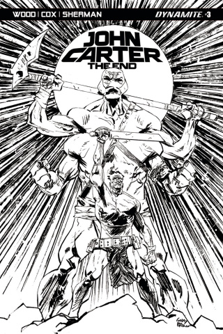 John Carter: The End #3 (10 Copy Brown B&W Cover)