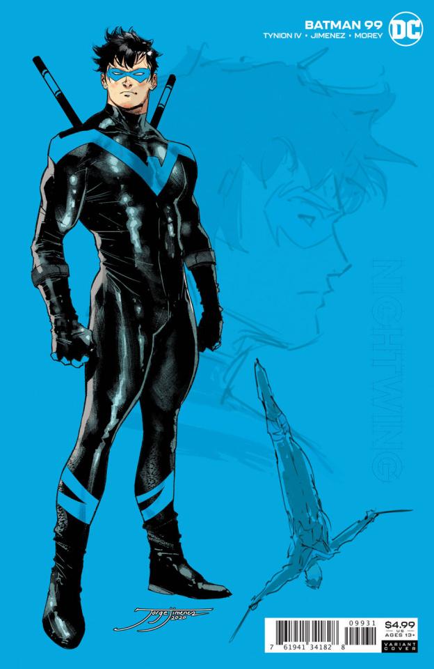 Batman #99 (1:25 Jorge Jimenez Nightwing Card Stock Cover)