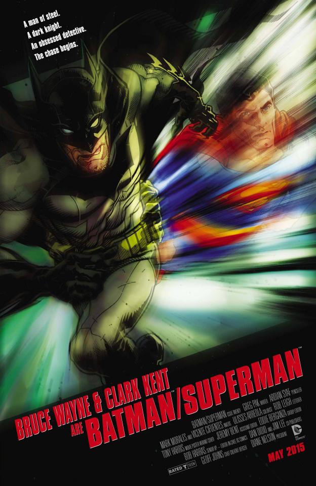 Batman / Superman #20 (Movie Poster Cover)