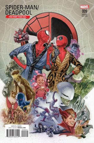 Spider-Man / Deadpool #9 (Tedesco Story Thus Far Cover)