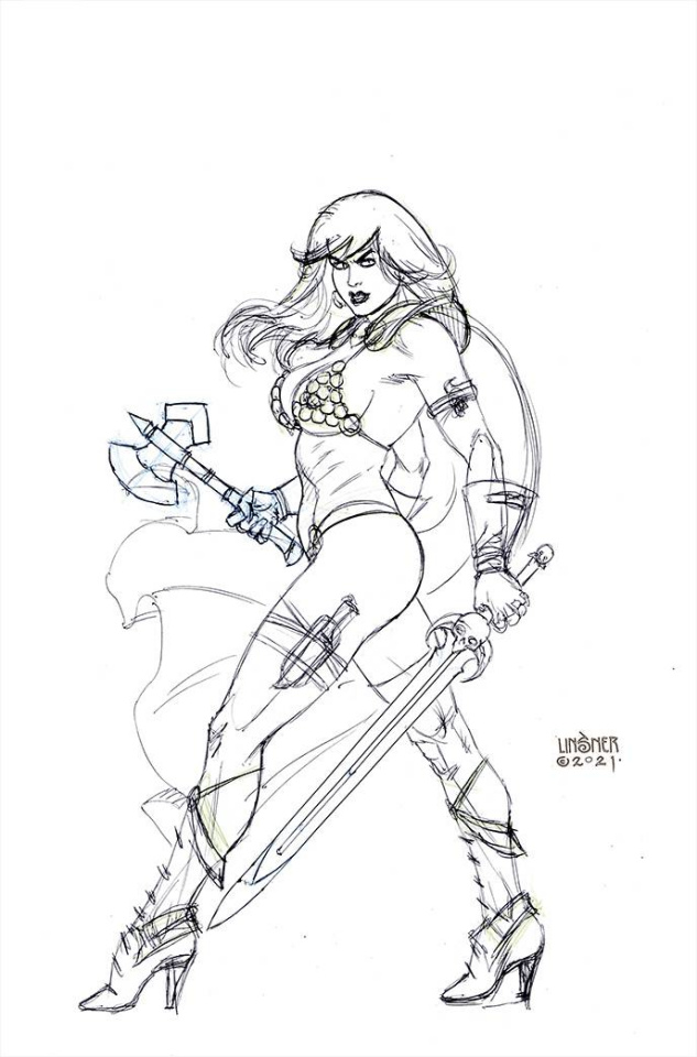 Red Sonja: The Superpowers #5 (45 Copy Linsner B&W Virgin Cover)