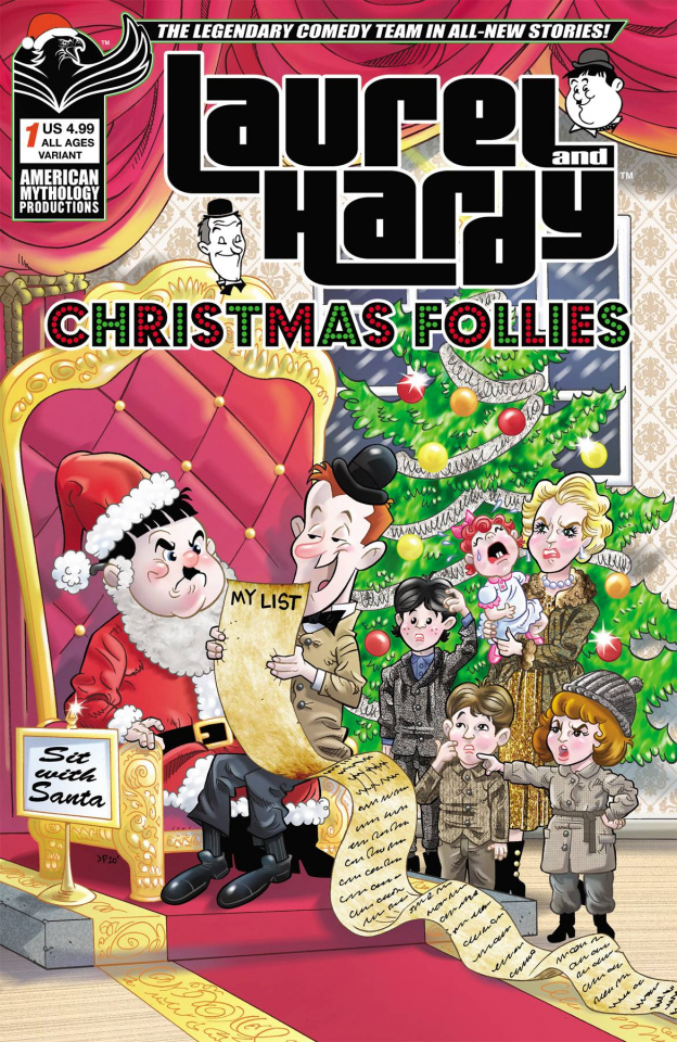 Laurel and Hardy: Christmas Follies #1 (Pacheco Cover)