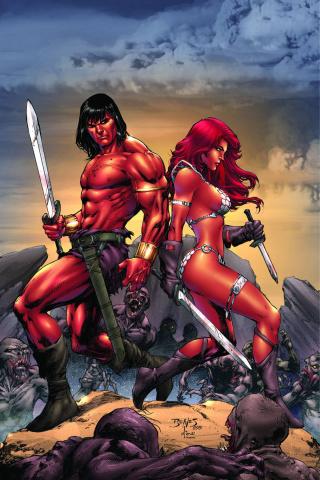 Red Sonja / Conan #2 (Rare Benes Virgin Cover)