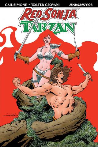 Red Sonja / Tarzan #6 (Lopresti Cover)