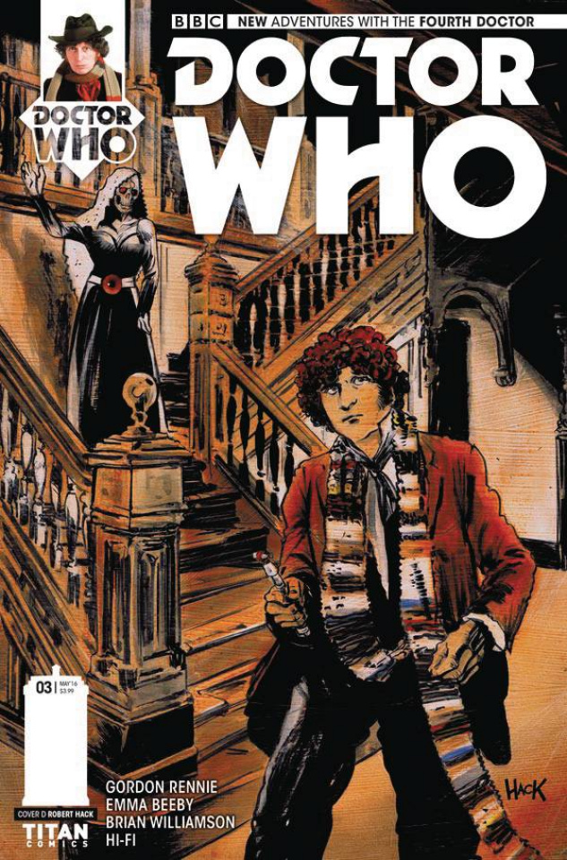 Doctor Who: New Adventures with the Fourth Doctor #3 (Hack Cover)