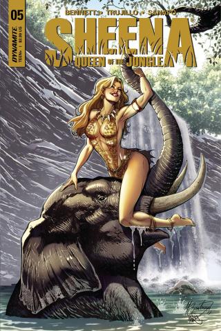 Sheena #5 (Santucci Cover)