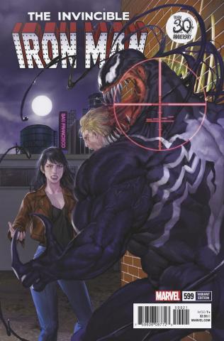 Invincible Iron Man #599 (Akcho Venom Cover)
