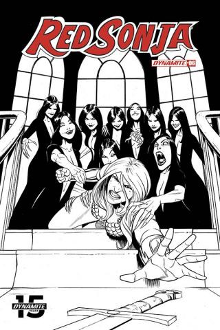 Red Sonja #6 (50 Copy Bob Q Seduction B&W Cover)