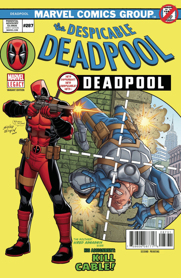 The Despicable Deadpool #287 (Espin 2nd Printing Cover)