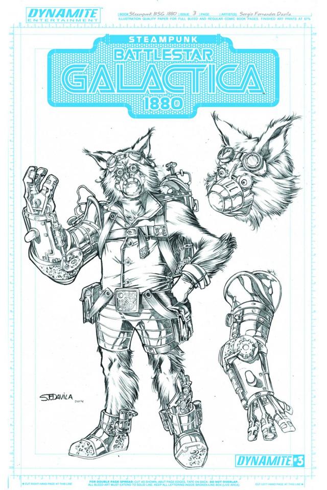 Steampunk Battlestar Galactica: 1880 #3 (20 Copy Muffit Art Cover)