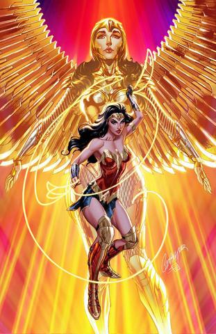 Batman #104 (J Scott Campbell Wonder Woman 1984 Card Stock Cover)