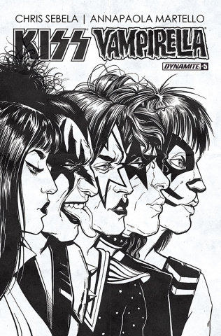 KISS / Vampirella #5 (10 Copy Idhe B&W Cover)