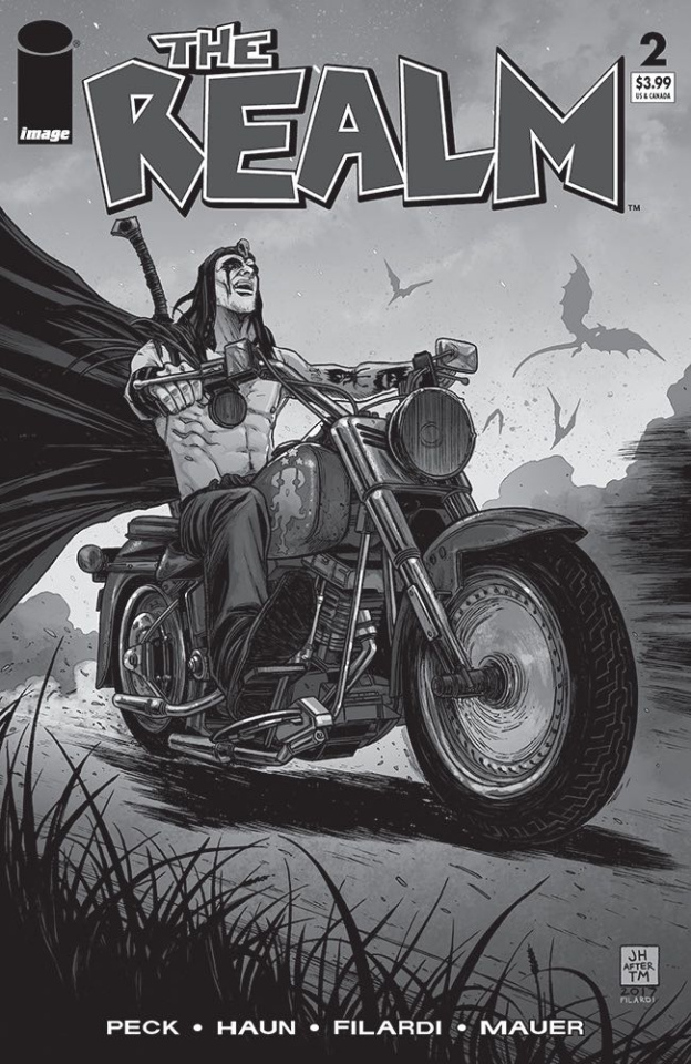 The Realm #2 (B&W Walking Dead #15 Tribute Cover)