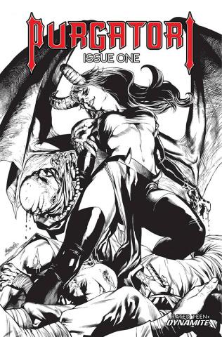 Purgatori #1 (10 Copy Pagulayan B&W Cover)