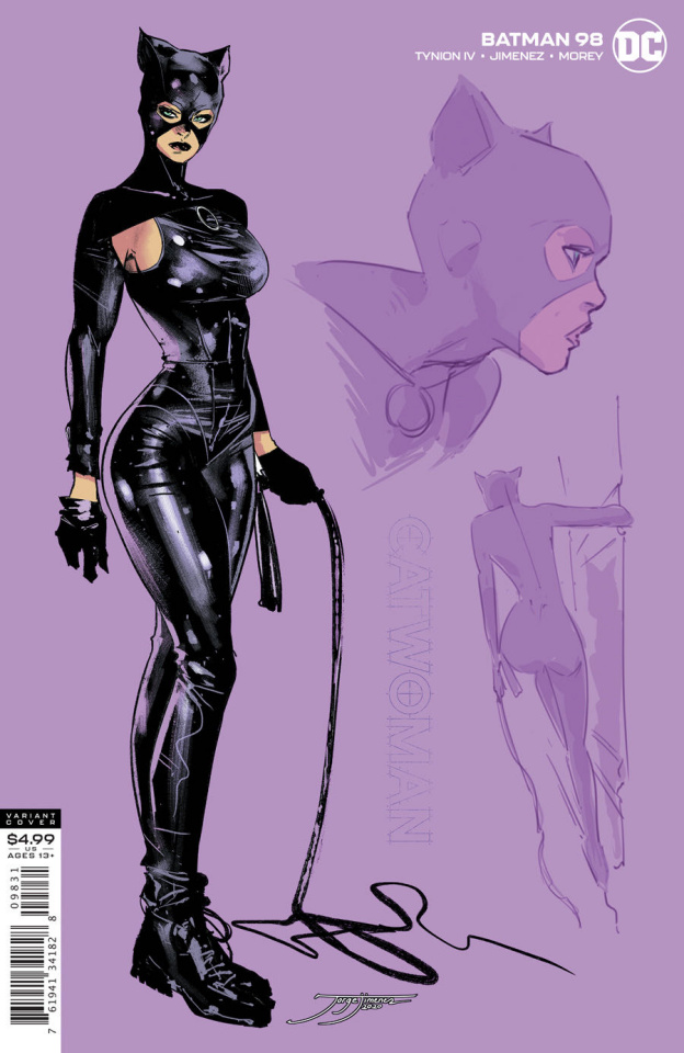 Batman #98 (1:25 Jorge Jimenez Catwoman Card Stock Cover)